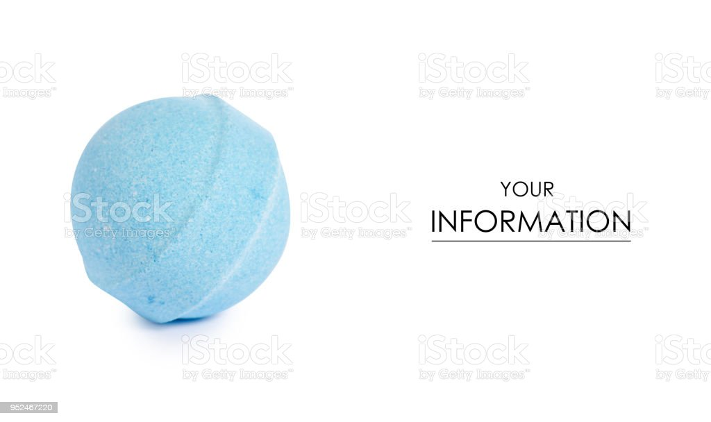 Blue bomb for bath pattern stock photo