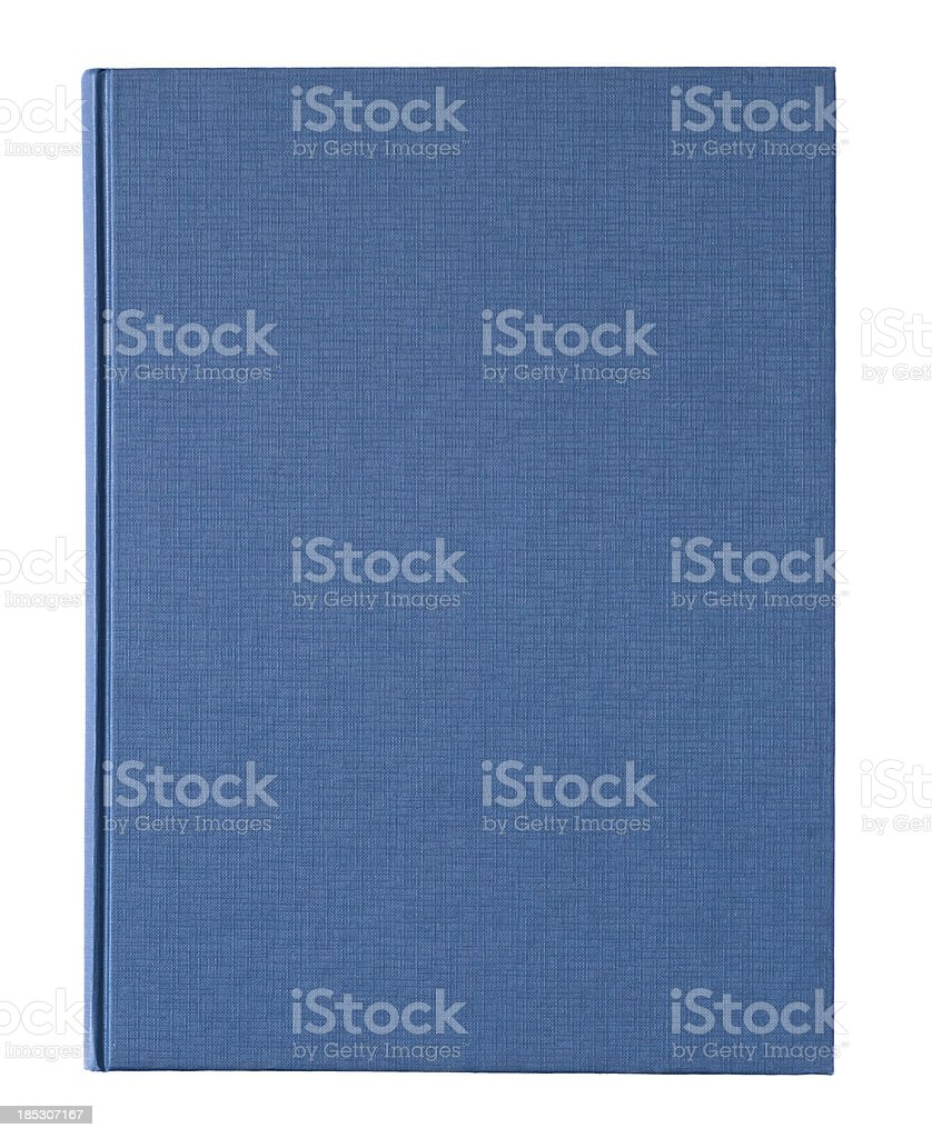 XL Blue book cover stock photo