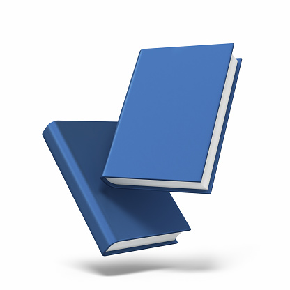 3d render Blue Book stack (isolated on white and clipping path)