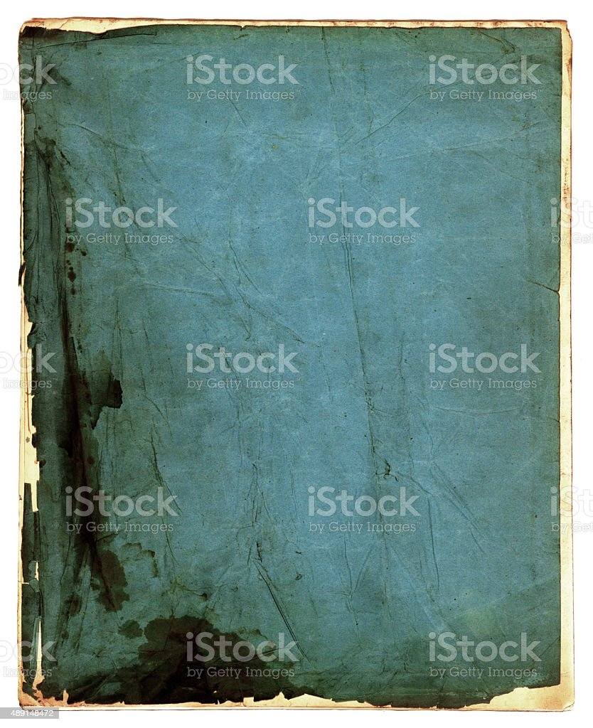 Blue booklet cover stock photo