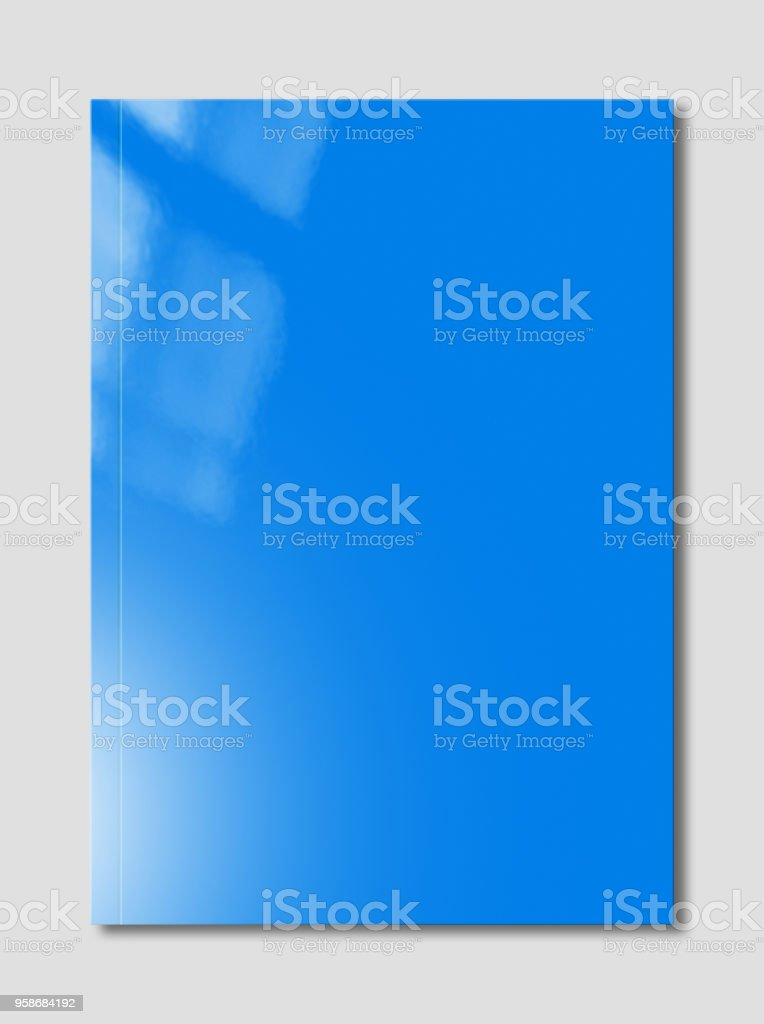 Blue Booklet cover template stock photo