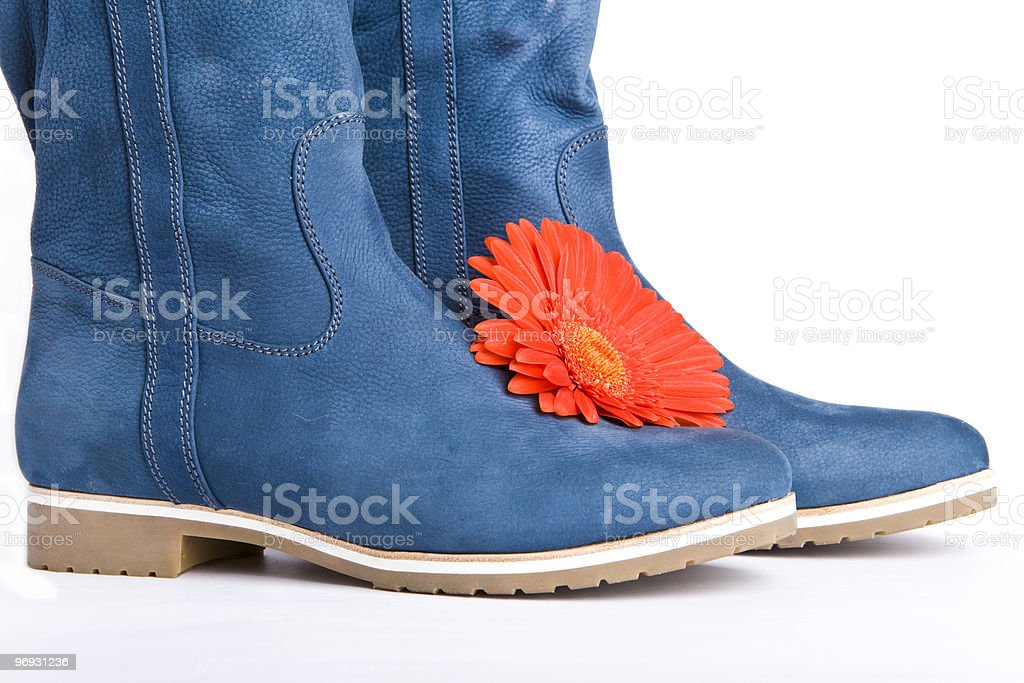 blue boot royalty-free stock photo
