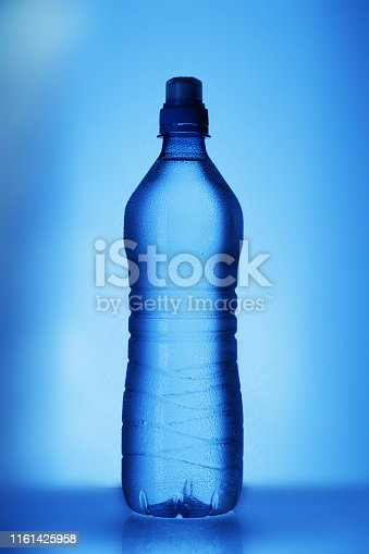 istock blue bottle with water 1161425958