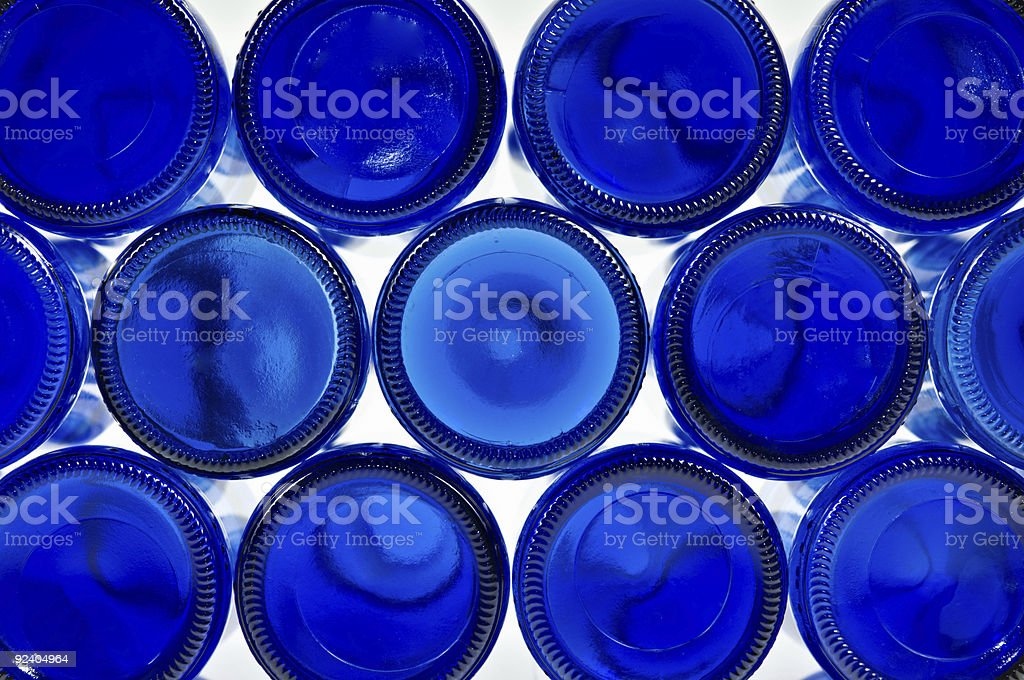 Blue Bottles. Recycling Concepts. stock photo