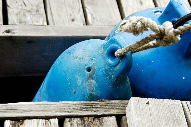 blue bouy stock photo