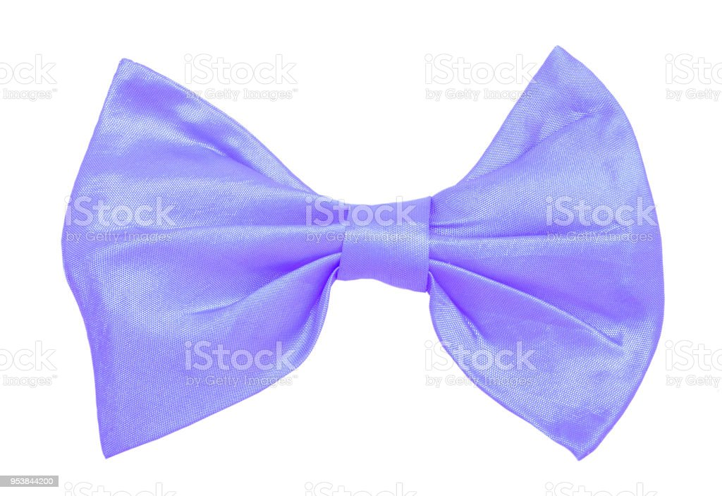 Blue bow tie isolated on the white stock photo
