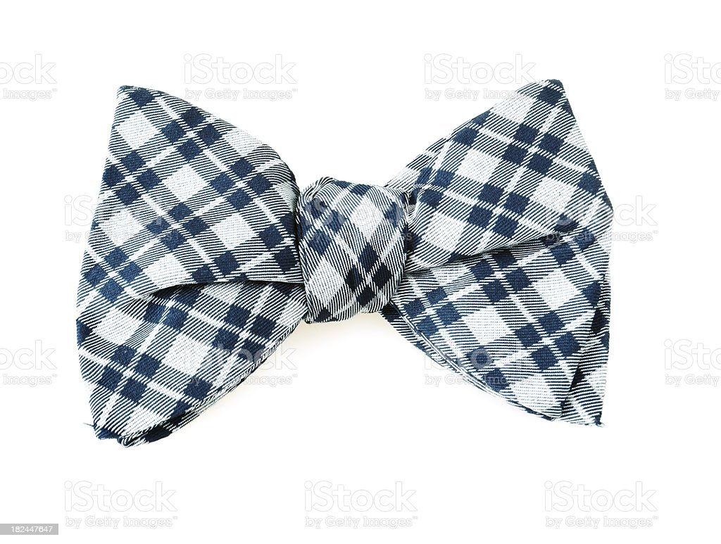 Blue Bow Tie royalty-free stock photo