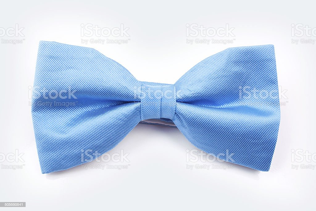 blue bow tie stock photo