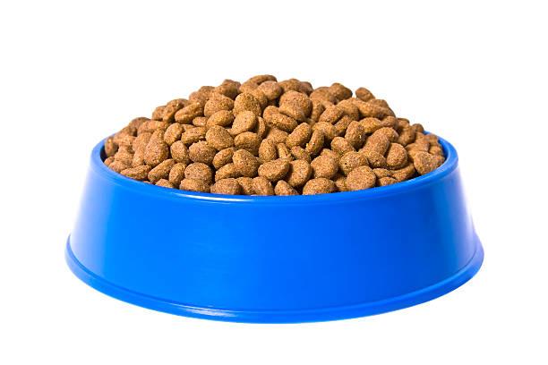 cat's food - hundenapf stock-fotos und bilder