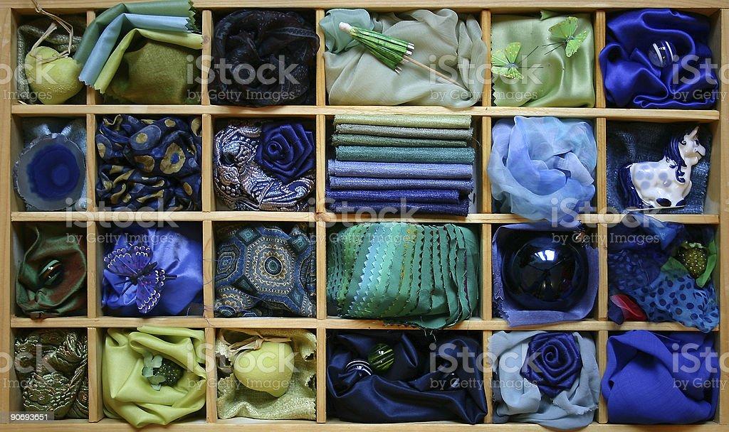 Blue box royalty-free stock photo