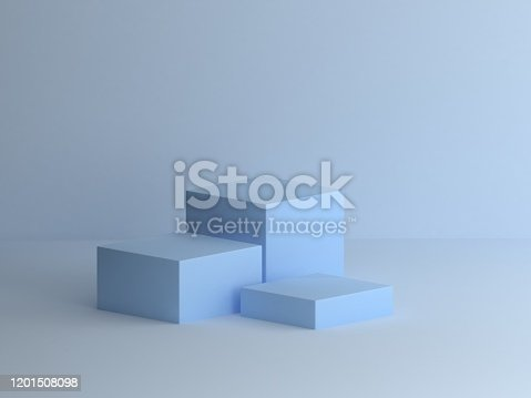 Blue box podium