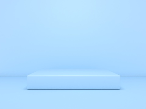 Blue box podium