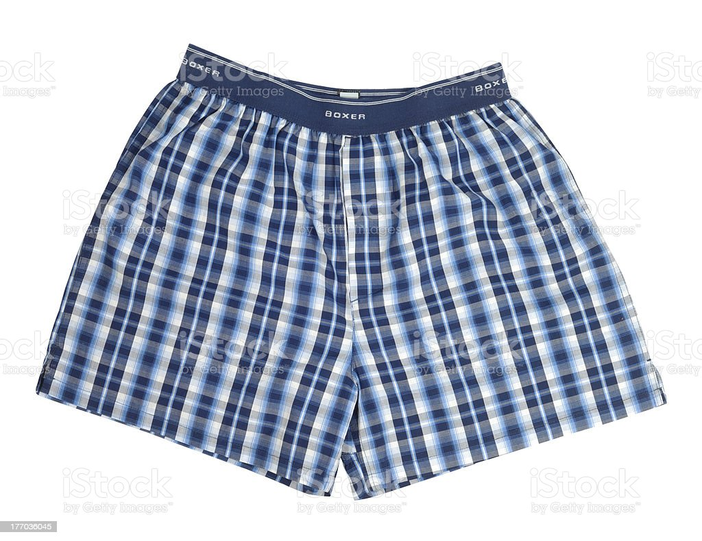Blue Boxers stock photo