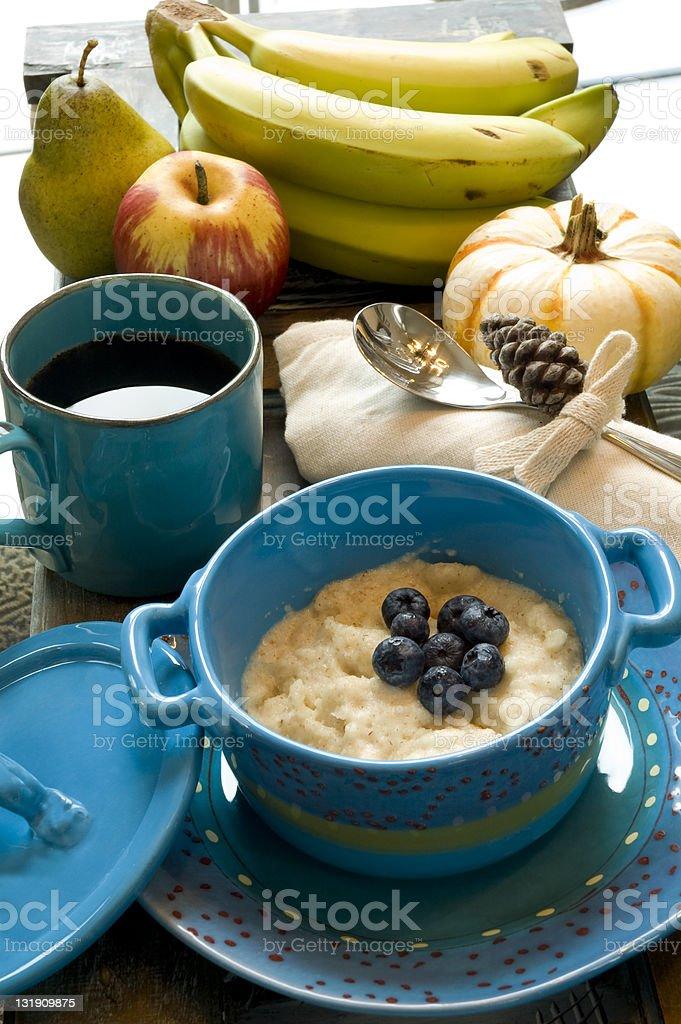 Blue Breakfast royalty-free stock photo