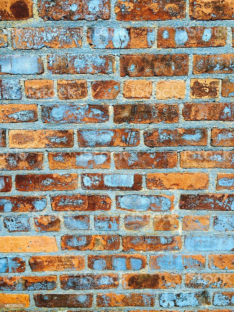 Blue brick stock photo