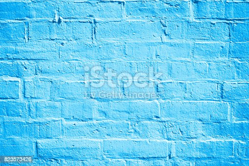 istock Blue Brick Wall Background Texture 823573426