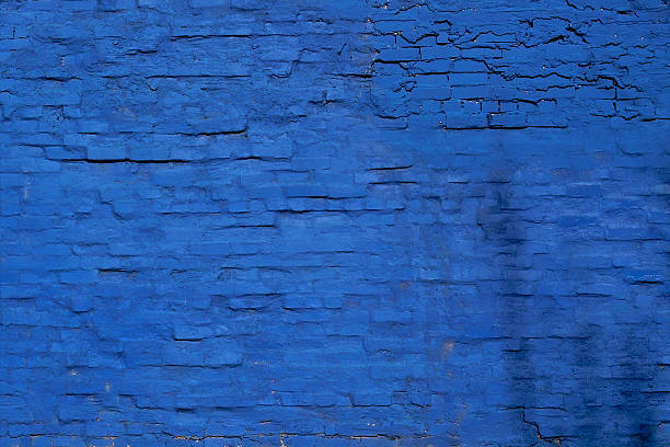blue brick wall - graffiti stock pictures, royalty-free photos & images