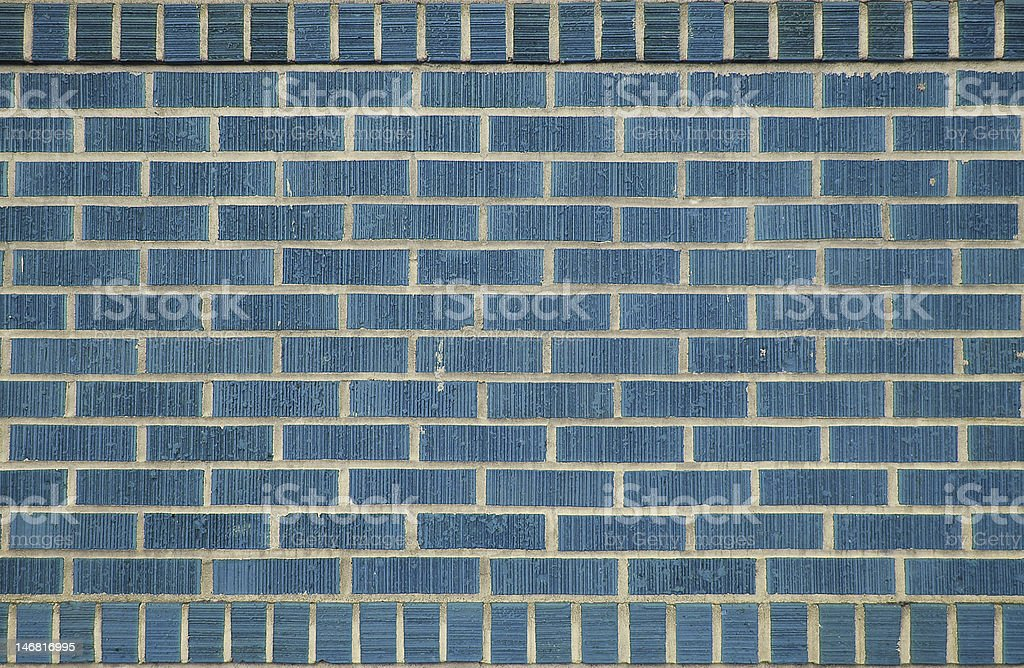 Blue bricks stock photo
