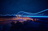istock Blue bridge at night, Dubai 924212022