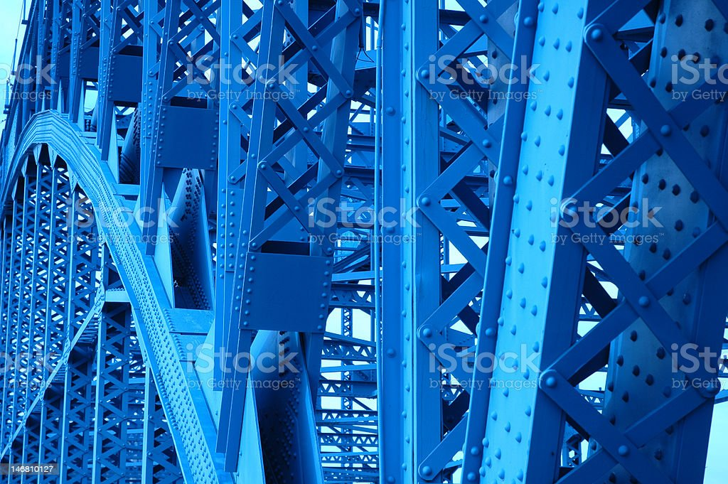 Blue Bridge royalty-free stock photo