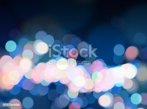 istock Blue bright bokeh background luminous pink blue defocused backdrop 939294696
