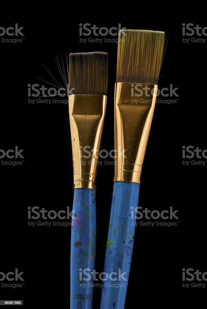 Blue Broad Brushes royalty-free stock photo