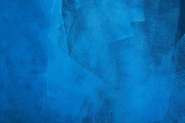 Blue brush strokes in horizontal background stock photo