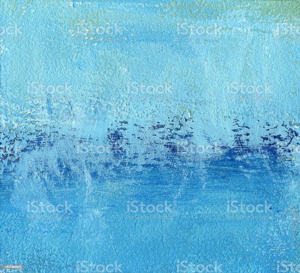 Blue Brushed Background Frame royalty-free stock photo