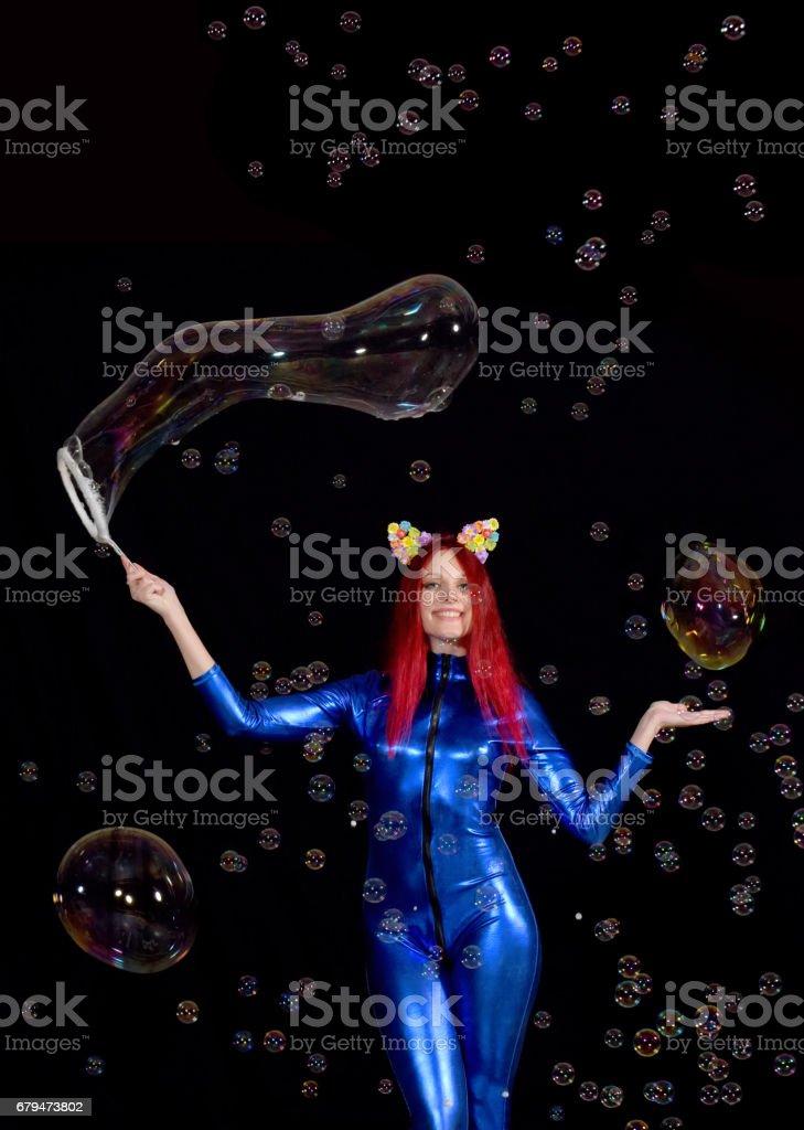 Blue Bubble Beauty 免版稅 stock photo