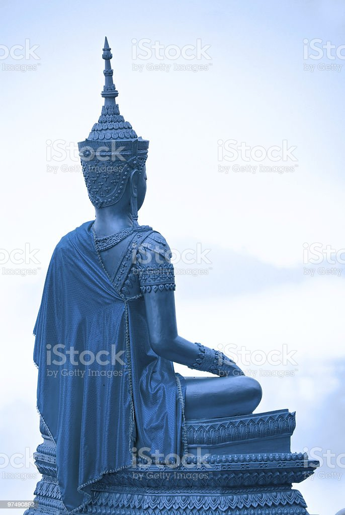 Blue Buddha, Chiang Mai, Thailand. royalty-free stock photo