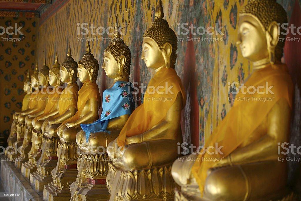 Blue Buddha royalty-free stock photo
