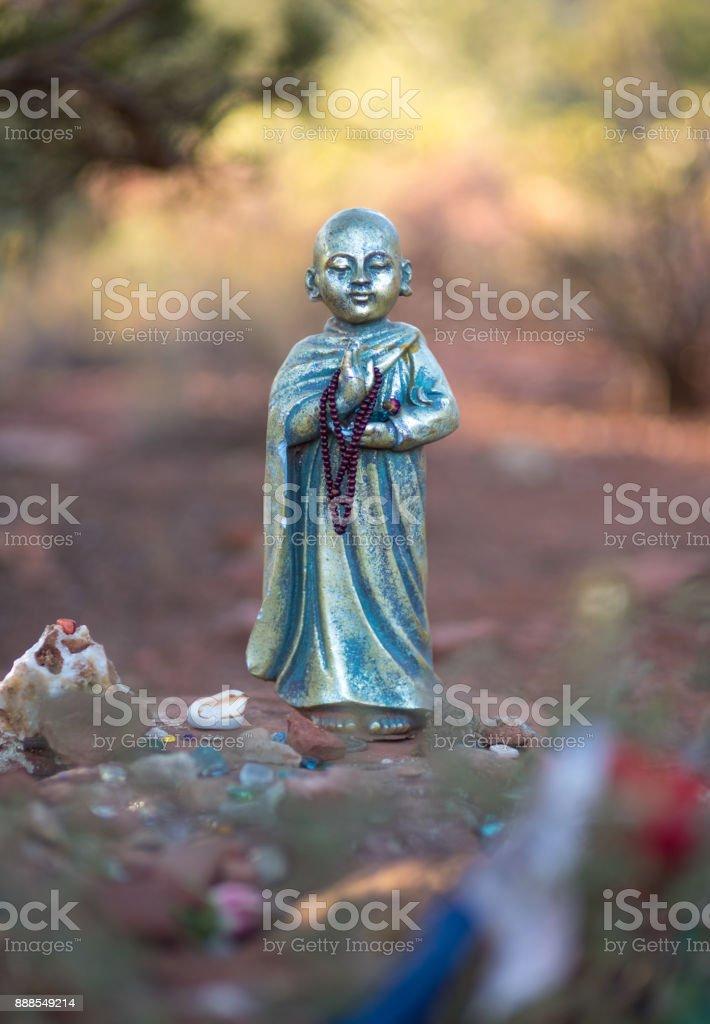 Blue Buddha Sculpture stock photo