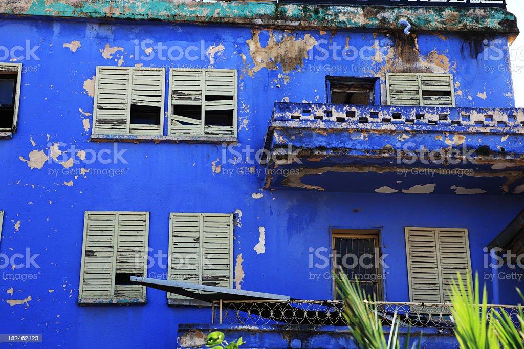 Photo Libre De Droit De Bleu Extérieur Peinture Mauvais état
