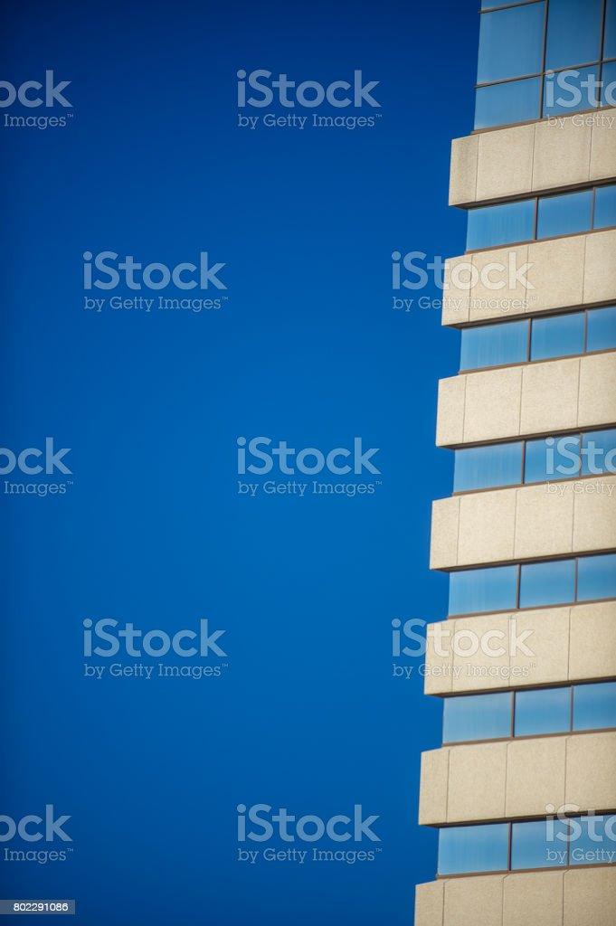 Blue Building stock photo