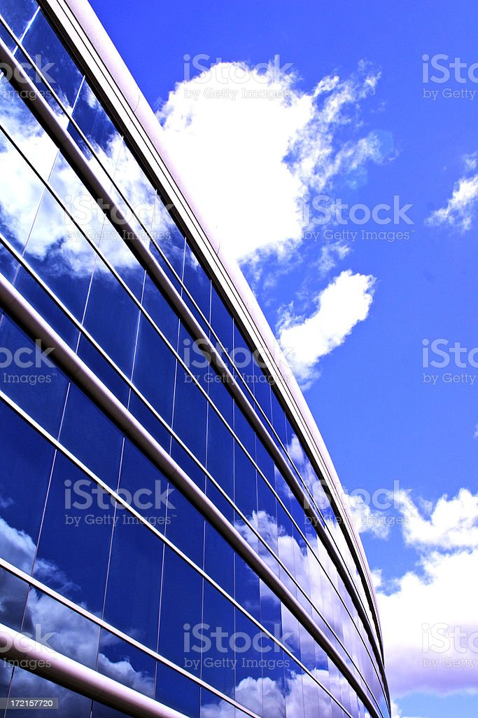 Blue Building Pv royalty-free stock photo