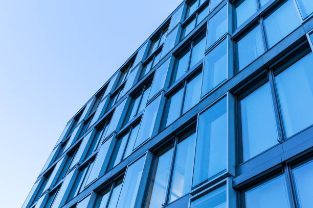 Blue Building Series: Modern Office Building stock photo