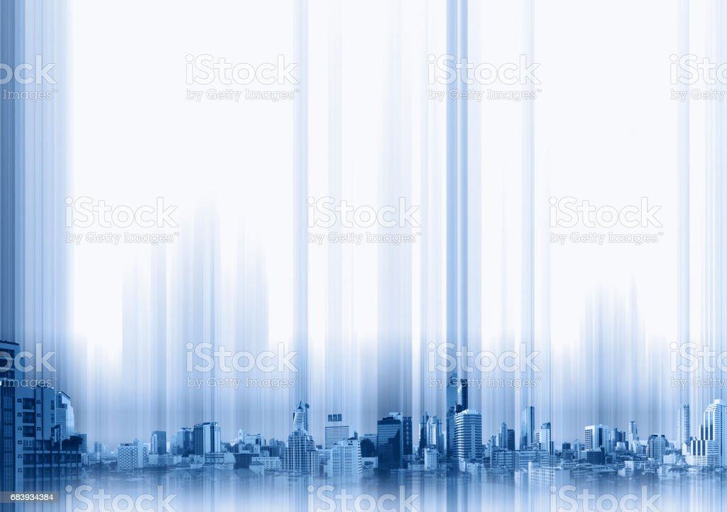 Blue buildings in the city on whitebackground, technology concept background​​​ foto
