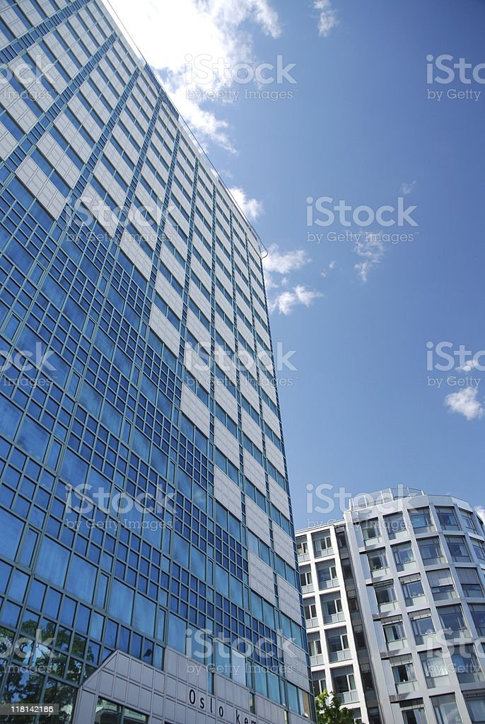 Blue Buildings stock photo
