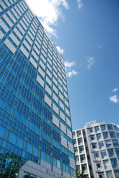 Blue Buildings stock photo