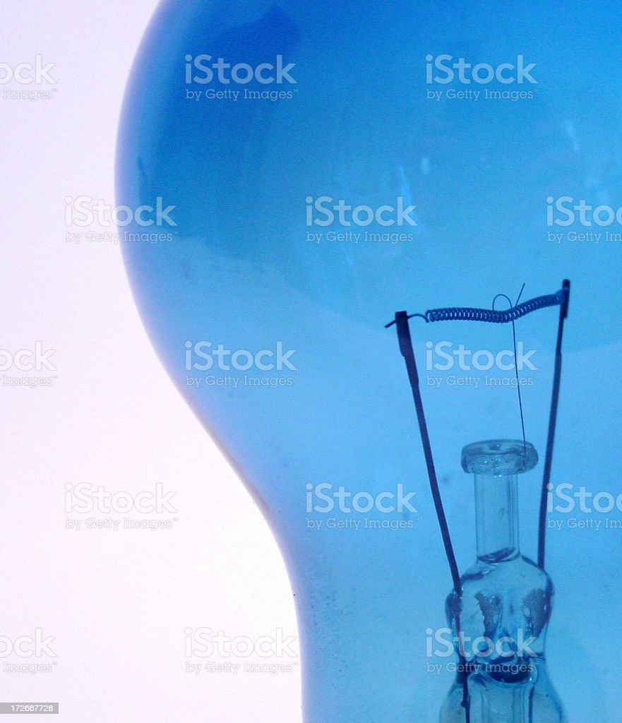 blue bulb 2 royalty-free stock photo