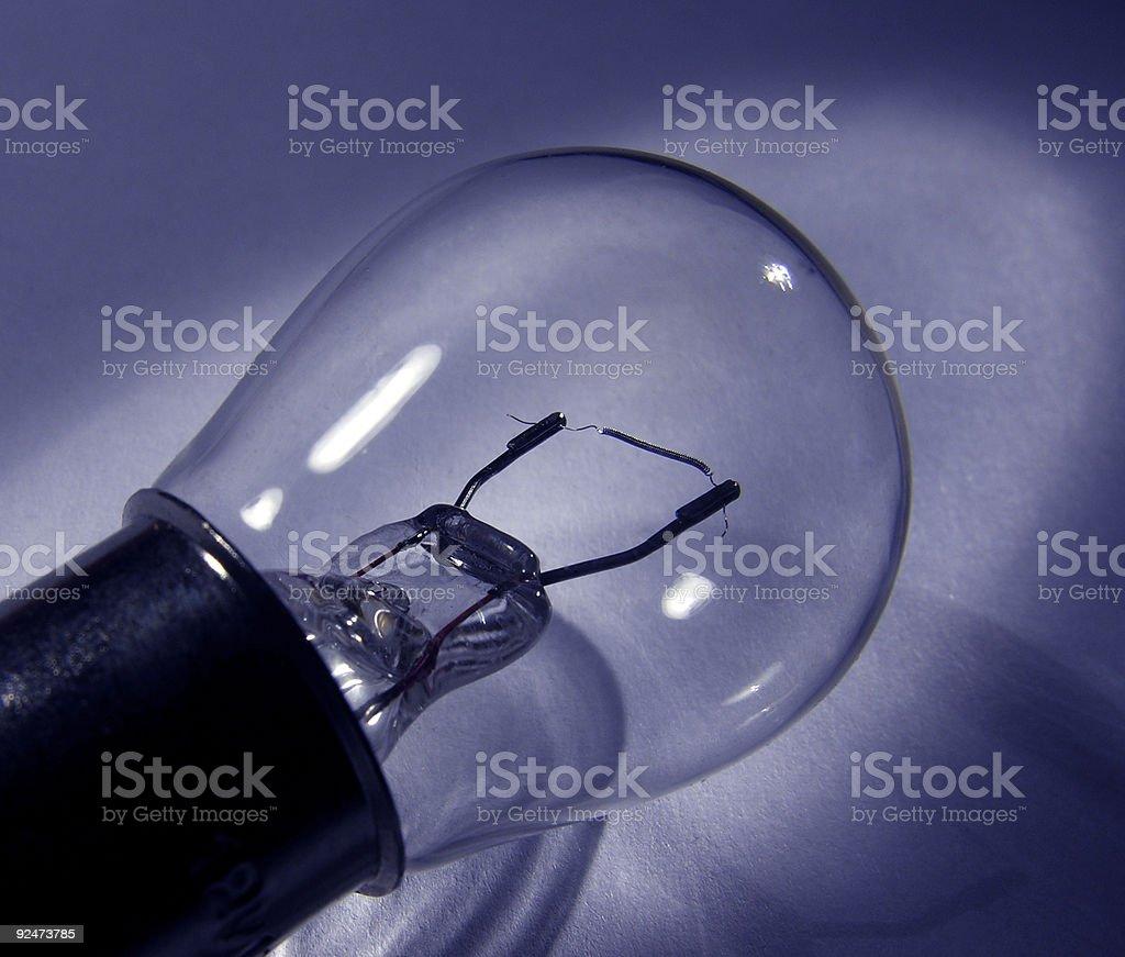 blue bulb royalty-free stock photo