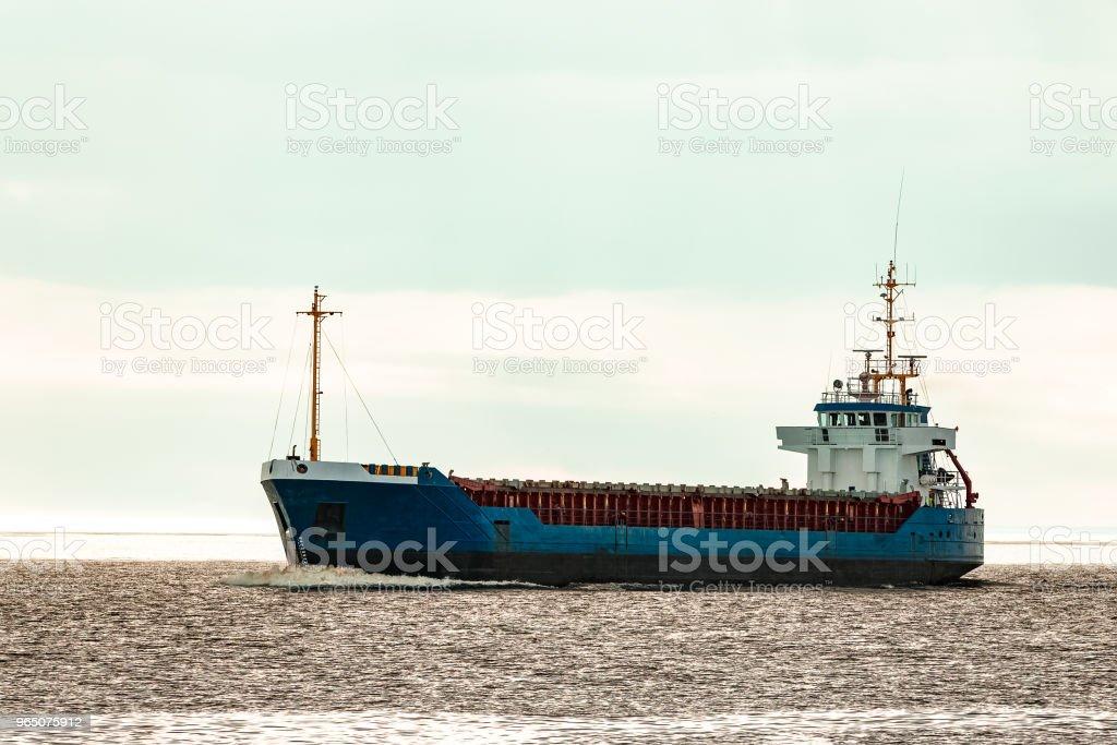 Blue bulk carrier zbiór zdjęć royalty-free