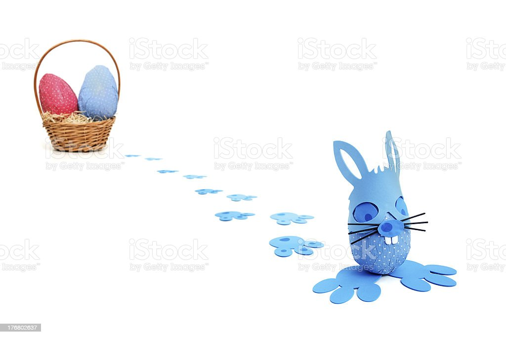 Blue bunny delivery royalty-free stock photo