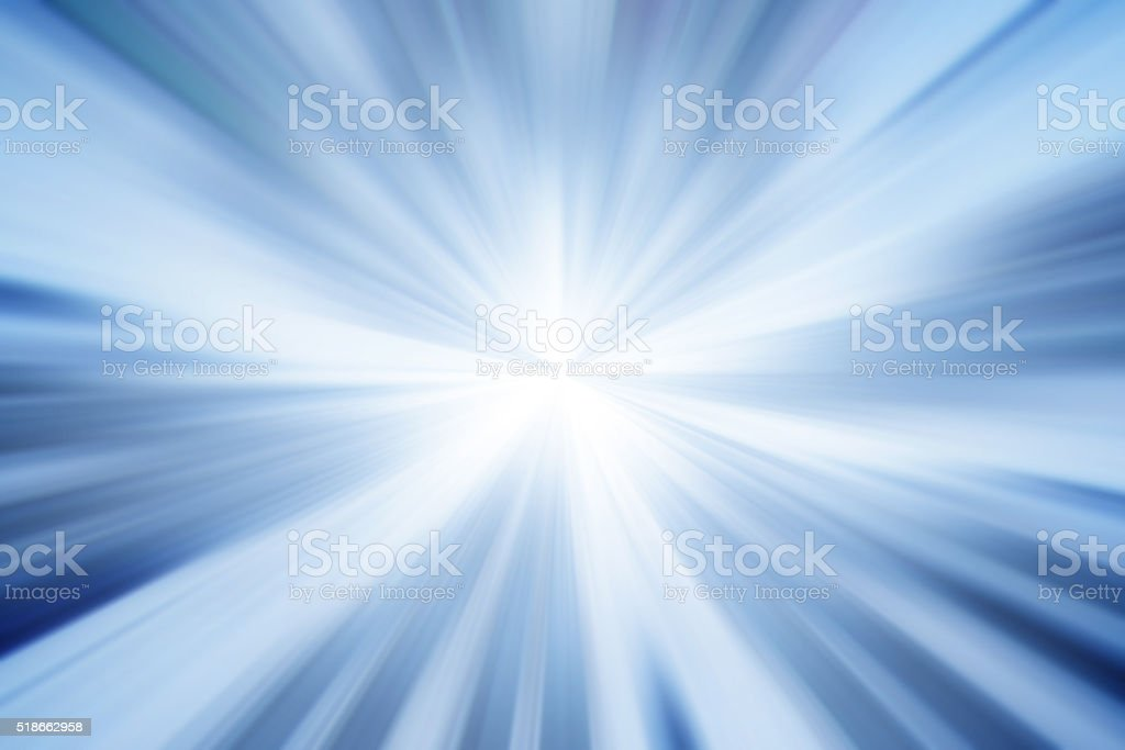 Blue Burst Light Beam Abstract Background stock photo