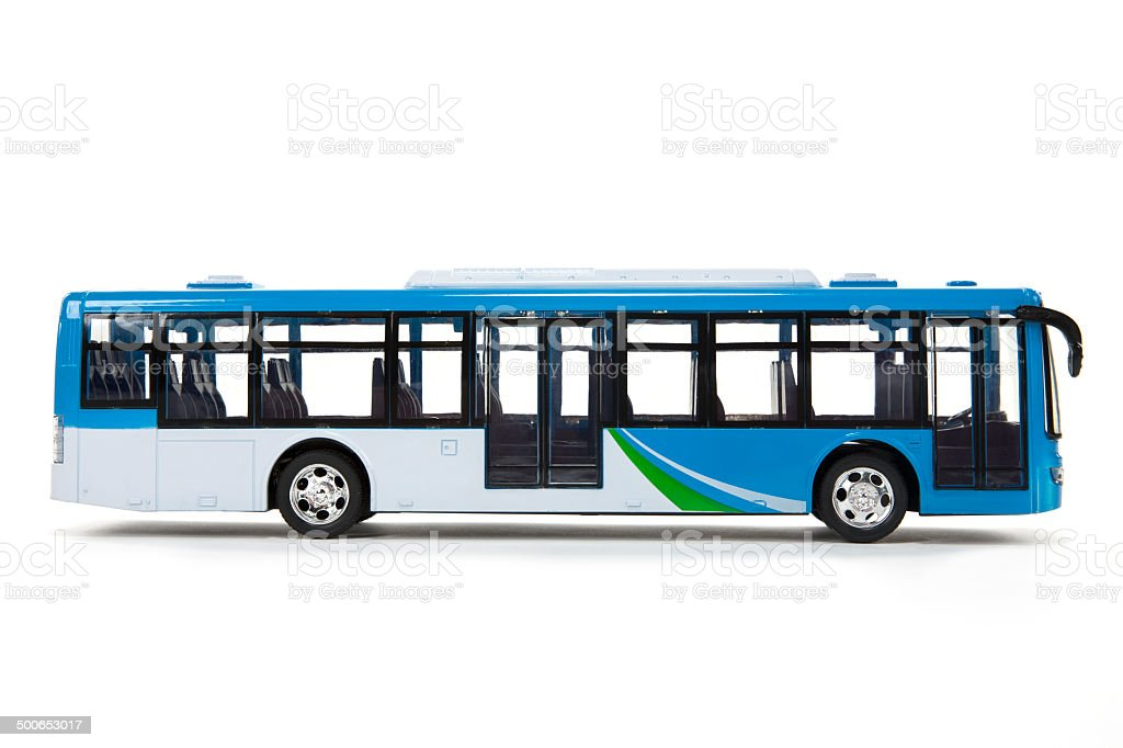 Blue Bus stock photo