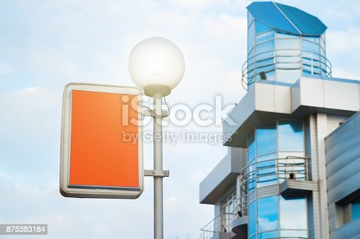 istock Blue business building in city 875383184