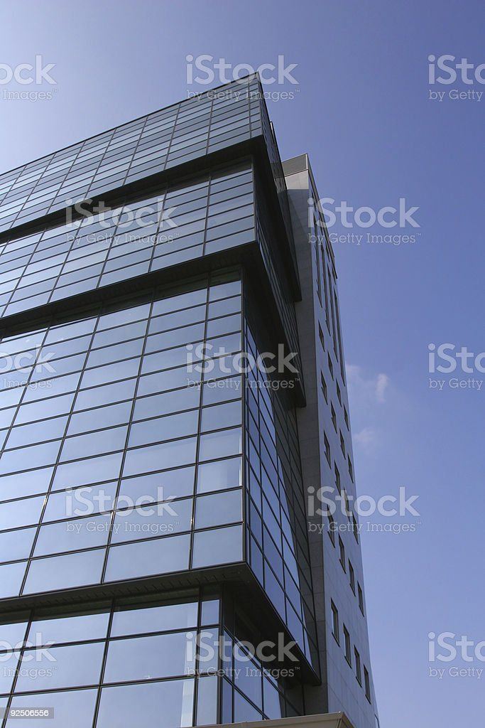 Blue business building royalty-free stock photo