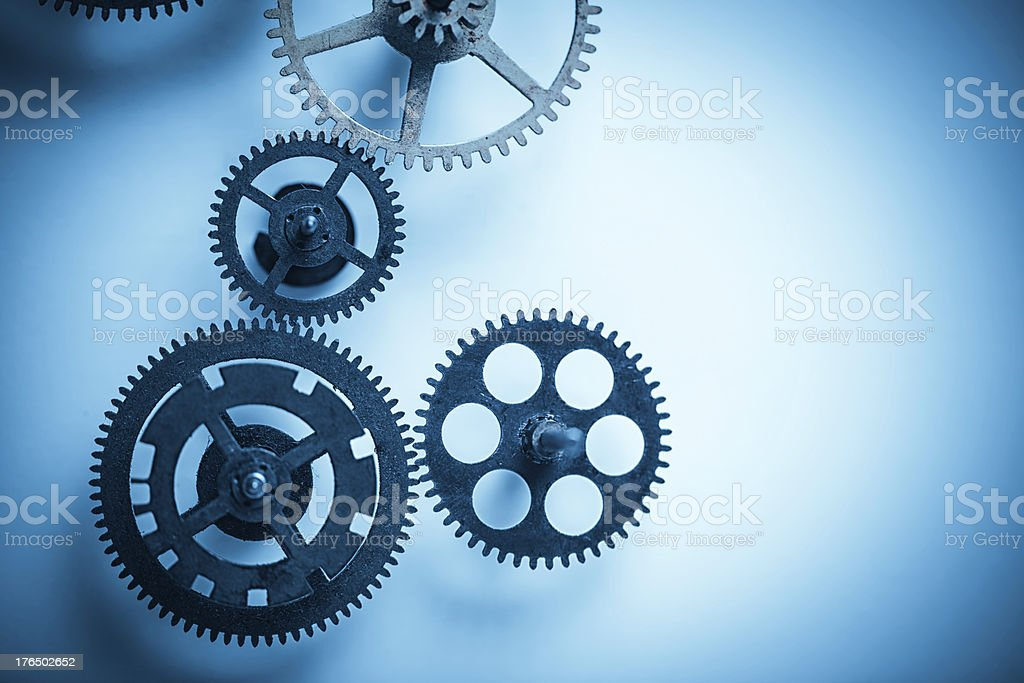 blue business gears royalty-free stock photo