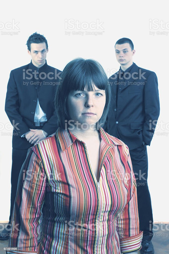 Blue business team royalty-free stock photo