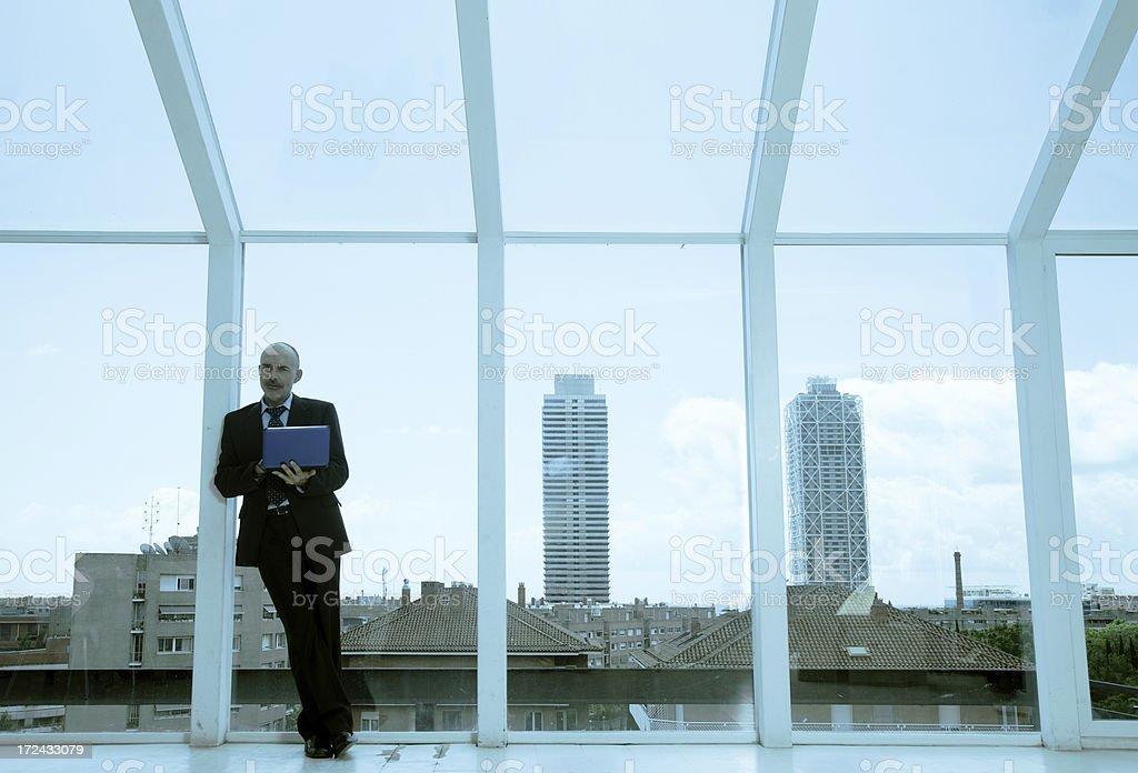 Blue businessman royalty-free stock photo